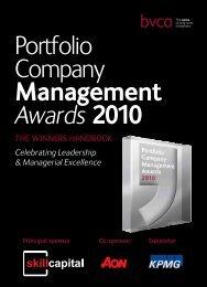 Portfolio Company Management Awards 2010 - BVCA admin