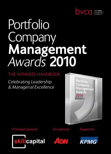 Portfolio Company Management Awards 2010 - BVCA admin