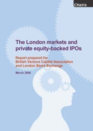 The London markets and private equity-backed IPOs - Oxera