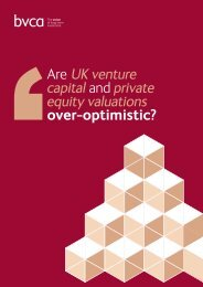 Are UK venture capital and private equity valuations ... - BVCA admin
