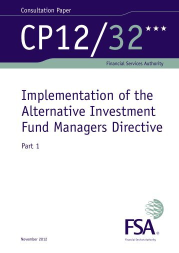 CP12/32: Implementation of the Alternative ... - BVCA admin