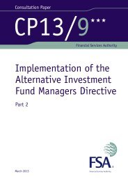 CP13/9 Implementation of the Alternative Investment ... - BVCA admin