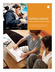 Getting Started: Apple Technology for Diverse Learners