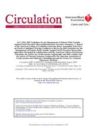 ACC/AHA 2007 guideline update for the management of patients ...