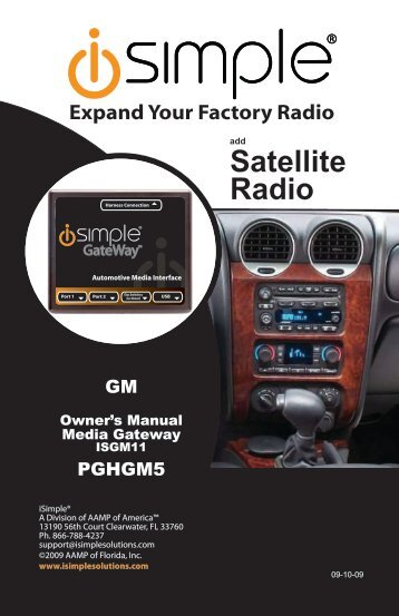 ISGM11 Instruction Manual - PAC Audio