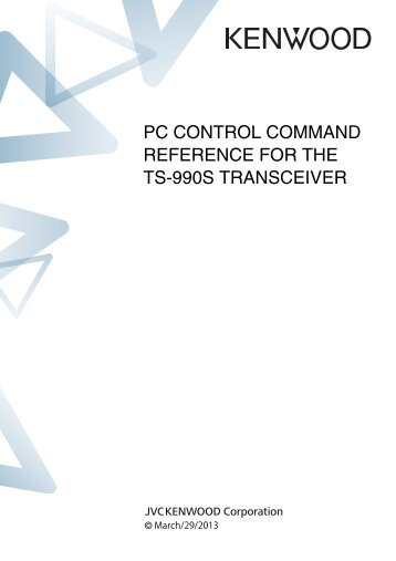 TS-990S PC Control Command Reference - Kenwood