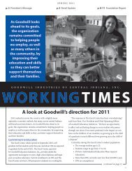 A look at Goodwill's direction for 2011