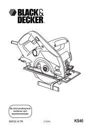 559722-15 TR (12/04) Bu ürün profesyonel kullanım için ...