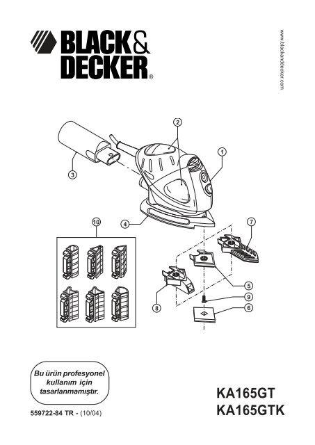 Ka165gt Ka165gtk Service Black Decker
