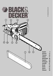 Chainsaw GK1930 UK.book - Service - Black & Decker