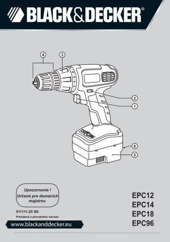 EPC12 EPC14 EPC18 EPC96 - Service - Black & Decker