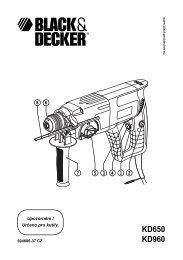 KD650 KD960 - Service - Black & Decker