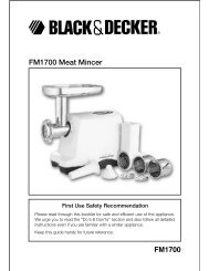 FM1700 Meat Mincer - Service