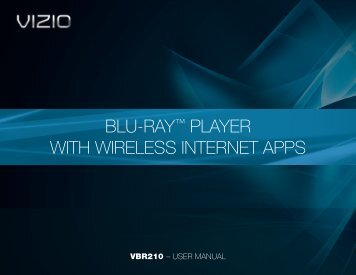 Blu-ray Player with Wireless Internet Apps