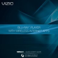 VIZIO Blu-ray Player with Wireless Internet Apps