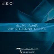 VIZIO Blu-ray Player with Wireless Internet Apps