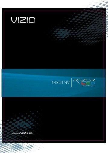 VIZIO M221NV User Manual