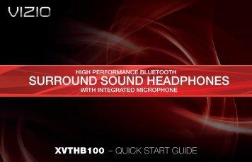 VIZIO High Performance Bluetooth Surround Sound Headphones ...