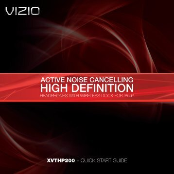 VIZIO Active Noise Cancelling High Definition Headphones with ...