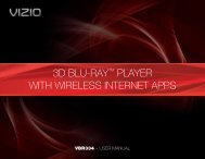 VIZIO 3D Blu-ray™ Player with Wireless Internet Apps