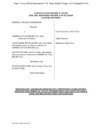 Case: 1:10-cv-06123 Document #: 137 Filed: 02/28/11 Page 1 of 13 ...