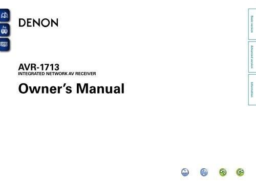 Denon DBTUD manual