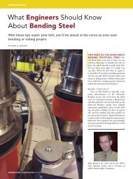 What Engineers Should Know About Bending Steel - Modern Steel ...