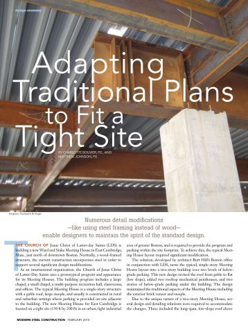 Adapting Traditional Plans to Fit a Tight Site - Modern Steel ...