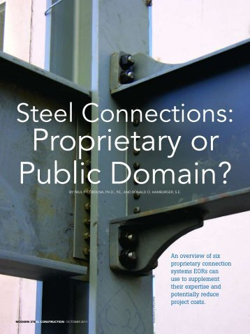 Steel Connections: - Modern Steel Construction