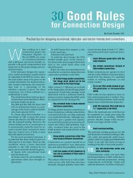 30 Good Rules for Connection Design - Modern Steel Construction