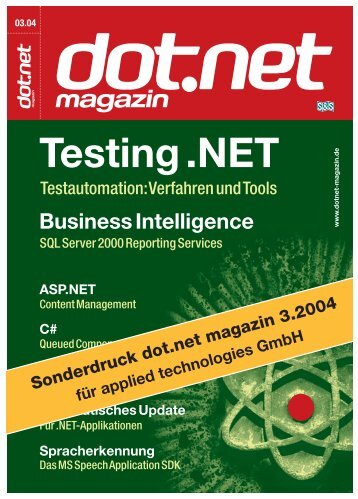 Arbeitsameise NAnt (dot.net Magazin 03/2004) - applied ...