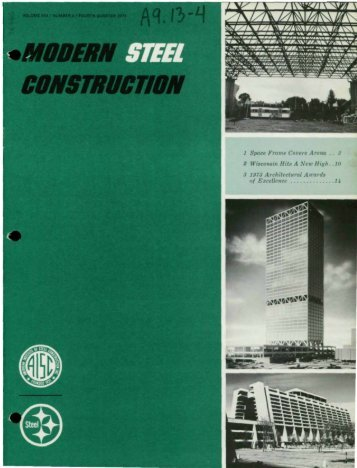 of Excellence - Modern Steel Construction