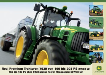 John Deere Traktor 7030 premium - Schweizer Eiken AG