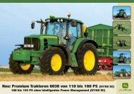 John Deere Traktor 6030 premium - Schweizer Eiken AG
