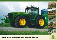 John Deere Traktor 8030 - Schweizer Eiken AG