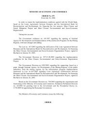 MINISTRY OF ECONOMY AND COMMERCE ORDER No ... - arddzi