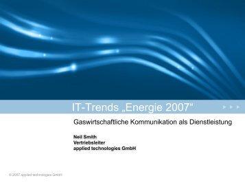 Gaswirtschaftliche Kommunikation als ... - applied technologies GmbH