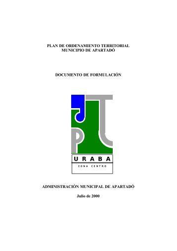 POT-Apartadó-Antioquia-2000-Libro 3-Capitulo I ... - CDIM - ESAP