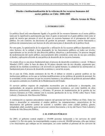 Diseño e institucionalización de la reforma de los ... - CDIM - ESAP