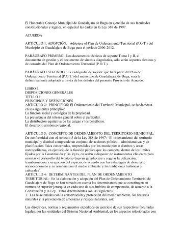 POT_Plan de Ordenamiento Territorial ... - CDIM - ESAP