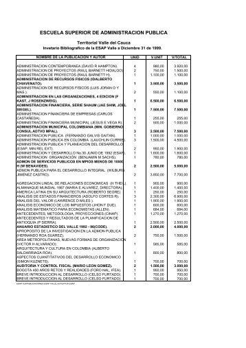 II_PUBLICAIONES ESAP Valle del Cauca(32 Pag ... - CDIM - ESAP