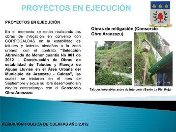 Aranzazu Caldas IG 2012 P2 - CDIM - ESAP