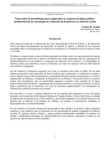 Notas sobre la metodología - CDIM - ESAP