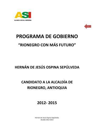 Rionegro - Antioquia - PG - 2015 - CDIM - ESAP
