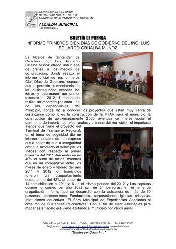 Santander de Quilichao - Cauca - IG - 100 días - CDIM - ESAP