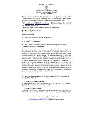 Tenerife - Magdalena - IG - 100 días - 2012 - CDIM - ESAP
