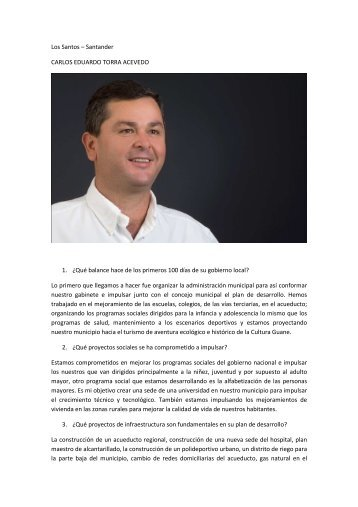 Los Santos - Santander - IG - 100 días - 2012 - CDIM - ESAP
