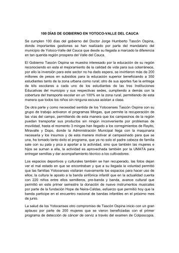Yotoco - Valle del Cauca - IG - 100 días - CDIM - ESAP