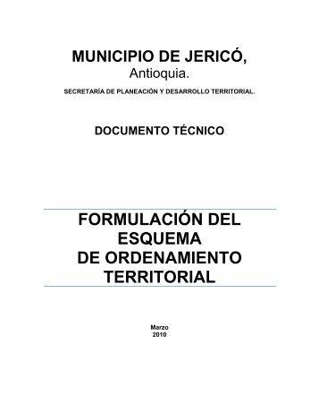 Jerico - Antioquia - EOT - CDIM - ESAP