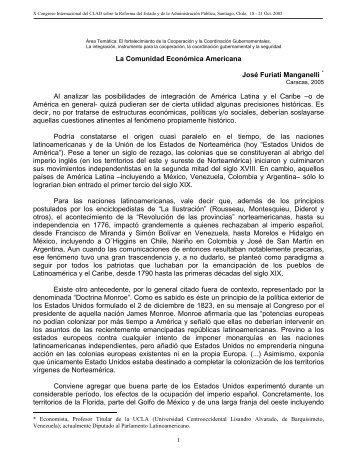 La Comunidad Económica Americana - CDIM - ESAP